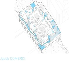 "Jacob COMERCI, ""Housing in Tyson's Corner, VA."" Axonometric."