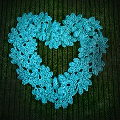 A scarf arranged as a heart.  Neat!