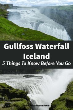 Looking to explore Gullfoss Waterfall Iceland? Here are some things to know and tips for visiting Gullfoss Waterfall in Iceland! Iceland Travel Tips, Iceland Road Trip, Europe Travel Guide, Travel Destinations, Europe Packing, Gullfoss Waterfall, Iceland Adventures, Iceland Waterfalls, European Travel