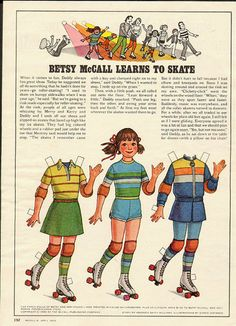 1980 Vintage Magazine Paper Doll Betsy McCall Learns to Skate