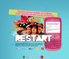 Criação de HotSite para cadastramento em celular para receber músicas do Restart