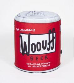 Pour tous les fans d'Homer Simpson, vous avez tout de suite deviné que ce pouf est en faite une réinterprétation de la bière favorite d'Homer. Il trouvera forcément sa place dans votre chambre ou dans votre salon.