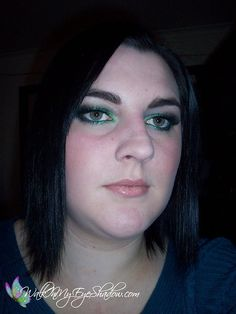 Makeup Monday - Glittery Green and Teal Look [Feb '10]