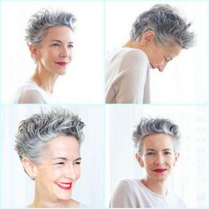 Catherine Walsh short hair styling tip - Nivea Creme on wet hair