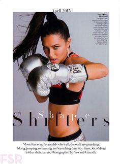 Vogue US April 2015 | Adriana Lima by Inez & Vinoodh