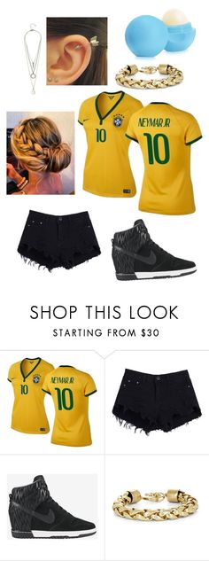 """""""neymar jr"""" by emmastyle4ever ❤ liked on Polyvore featuring NIKE, BCBGMAXAZRIA and GUESS"""