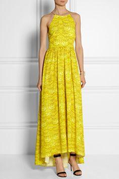 Tibi|Printed crepe maxi dress|NET-A-PORTER.COM
