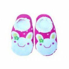 Dotty Fish Rutschfeste Socken Hasen-Design grüne Blume - eine Größe Dotty Fish, http://www.amazon.de/dp/B00C2O7BRW/ref=cm_sw_r_pi_dp_asBdsb05M2M5A