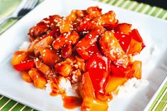 Mad på 4 sal: Sweet and sour chicken