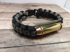 Paracord bracelet with 44 magnum by mybeadedbutterfly on Etsy