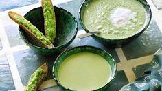 Recette de soupe glacée de petits pois au gingembre d'Annick Lestrohan.
