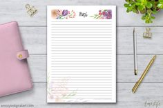 Printable Notes Planner Pages