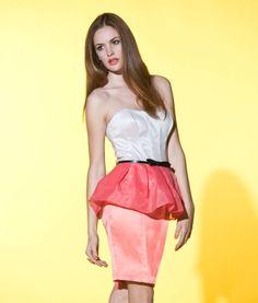 Organza Peplum Belted Dress £65