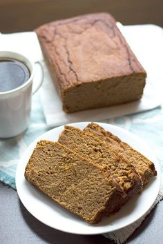 Replace with Sweet Potato!- Low Sugar Gluten Free Pumpkin Bread - a moist and naturally sweetened low carb / gluten free pumpkin bread recipe made with coconut flour, pumpkin, and lightly sweetened with Stevia and Erythritol. Low Carb Deserts, Low Carb Sweets, No Sugar Foods, Low Sugar, Sugar Free Recipes, Low Carb Recipes, Bread Recipes, Healthy Recipes, Best Low Carb Bread