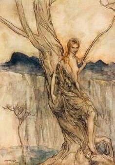 Dryad by Arthur Rackham