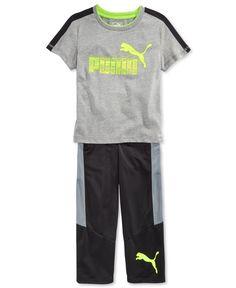 Puma Little Boys' 2-Pc. T-Shirt & Pants Set