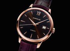 #Montblanc Meisterstuck Heritage Date Automatic Gold with Chocolate Dial | Dress Watches | Time and Watches