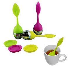 Silicone Leaf Tea Ball Tea Bag Filter Stainless Steel Tea Infuser 3pcs/lot. ** Check out this great product.