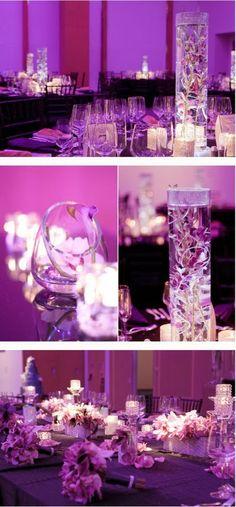 Purple Wedding Theme | Wedding Centerpieces. http://simpleweddingstuff.blogspot.com/2014/02/purple-wedding-theme.html