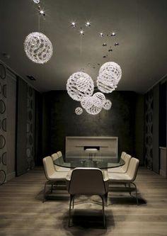 globe lights (via Incredibly Beautiful Kensington House by SHH Architects)
