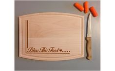 New Bless This Food Cutting Board by ULEKstore on Etsy, $29.95