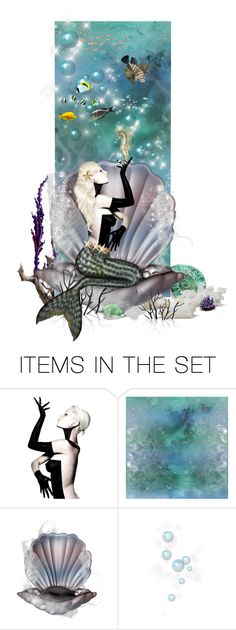 """""""The Dark Mermaid"""" by chileez ❤ liked on Polyvore featuring art"""