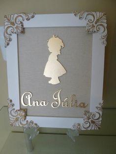 Porta Maternidade Menina Silhueta