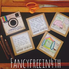 Fancy Free in 4th: Summer Grams { A BTS Bulletin Board}