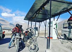 Ladakh is a remote region in India and this petrol pump in diskit is the only petrol pump in whole nubra valley.  They are still using old machines and they calculate price in their calculator.  #Ladakh #HighwayMonks #Lehd #Leh #gorgeous #MountainHighway #mountainroad #Himalaya #JammuKashmir #Kashmir #Biking #Snow #snowride #avengerunited #himalayanroad #photooftheday #instatravel #solotraveller #motorcycle #motorcyclediaries #ladakhdiaries  #landscapephotography #earthporn #roadtrip #GoPro…