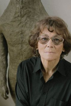 Magdalena Abakanowicz (born June 20, 1930, in Falenty, Poland) is a Polish sculptor. She is notable for her use of textiles as a sculptural medium.  Each of her figures is an individuality, with its own expression, with specific details of skin. Organic, with the imprint of the artist's fingers. Their surface is natural like tree bark or animal fur or wrinkled skin. Like all her sculptures also these works are unique objects.    http://www.abakanowicz.art.pl/about/-about.php