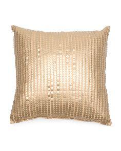 22x22 Metallic Paillettes Pillow