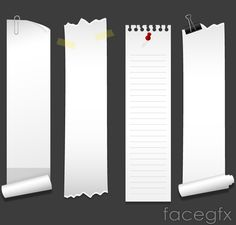 4 white rolled edge Chronicle article vector