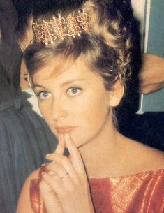 Queen Paola with hair ornament