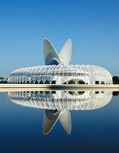 Rise and Shine: Structural ingenuity meets visual intrigue in the work of Santiago Calatrava, the Spanish architect, engineer, and artist. True to that reputation is his latest project, the new Florida Polytechnic University, in Lakeland.