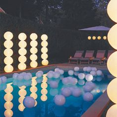 Pool party decor -how do I make those balloon stands??