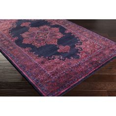 Found it at Joss & Main - Smythe Navy & Burgundy Oriental Wool Hand-Tufted Area Rug