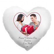 Valentines  Day  Heart  Shaped  Personalised  Photo  Cushion for Personalized Gifts