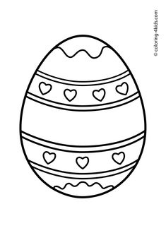 Easter Coloring Pages Eggs For Kids Prinables