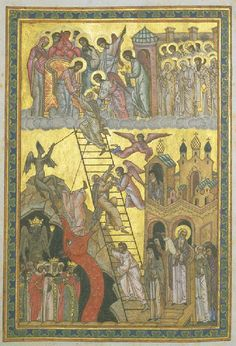The Ladder of Divine Ascent, http://www.orthodox.net/ikons/ladder-of-divine-ascent-04-russian-16thc.jpg