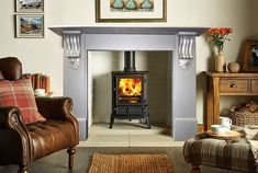 antique victorian slate fireplace