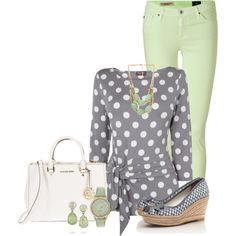 A fashion look from April 2014 featuring Phase Eight blouses, AG Adriano Goldschmied jeans and Tory Burch sandals. Browse and shop related looks.