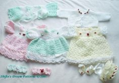 Sunbeam Baby Dress Crochet Patterns