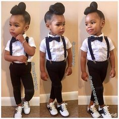 """So today is """"Celebrity Day"""" at daycare! It's easy to go as the obvious Beyoncé so we stepped out the box and channeled the amazing @janellemonae #BabyNia didn't come to play.... #SlayedAtItsFinest #DaddysGirl"""