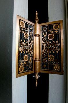 Incredible Door Hinge from the McDonald Mansion, Santa Rosa, CA