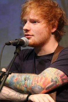 Fotografias de Ed Sheeran enviadas pelos usuários do Cifra Club
