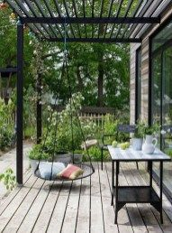 The pergola design allows you to have shade and a place to swing simultaneously. If you choose to make a pergola, you need to understand a number of things. Pergola Canopy, Pergola Swing, Metal Pergola, Pergola With Roof, Wooden Pergola, Covered Pergola, Backyard Pergola, Pergola Shade, Gazebo