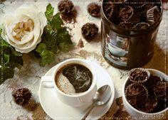 Трюфели из горького шоколада с мускатным орехом