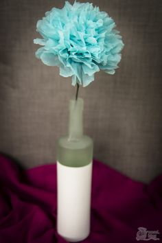 DIY Papierblumen aus Servietten basteln