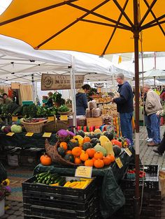 Farmers Market in October ~ Karen Molenaar Terrell ~
