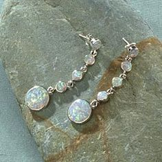 Leon Nussbaum Opal Dangle Earrings in Holiday 2012 from Uno Alla Volta